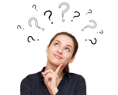 Lady thinking up ideas to improve productivity