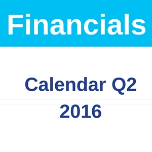 Quarter 2 2016 Financials