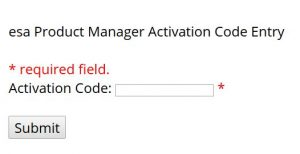 Activation Code entry for new customer