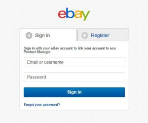 eBay Sign In prompt