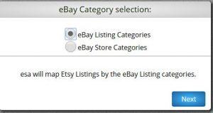 eBay to Etsy Product Organization choice