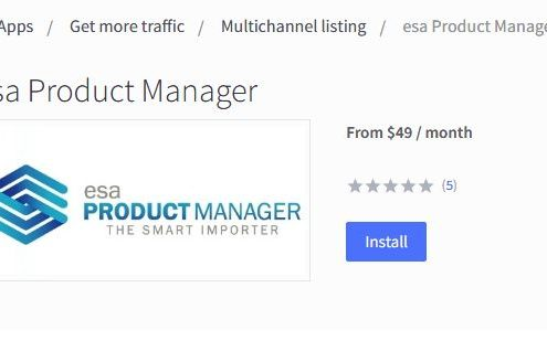 BigCommerce install of esa Product Manager part 2