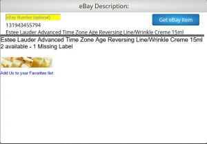 eBay Etsy Import Description example