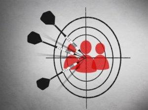 darts bullseye to target