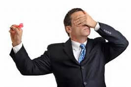 man with eyes closed - blind planning