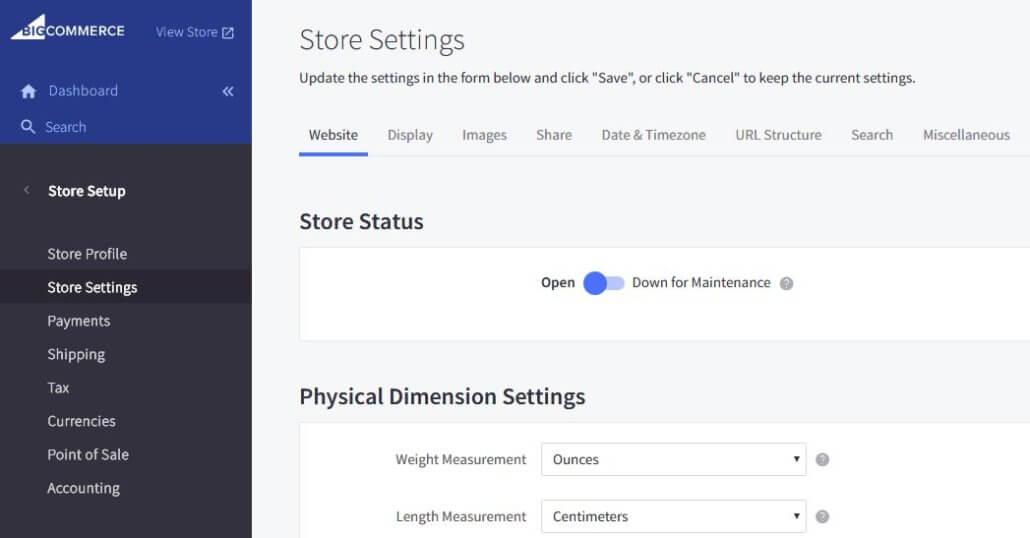 import eBay to BigCommerce dashboard 1
