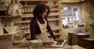 woman at computer painless multichannel integration success