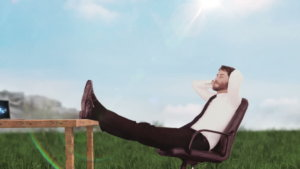 businessman relaxed about marketplace syncing