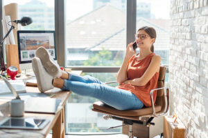 ecommerce sellers happy and relaxing