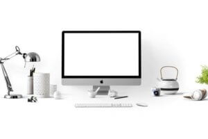 blank computer screen to create an ecommerce site