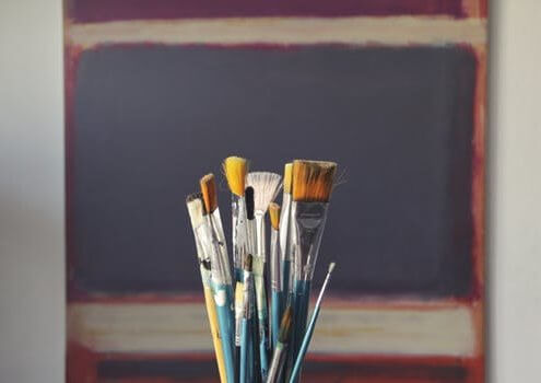 paintbrushes used as metaphor to word a product description