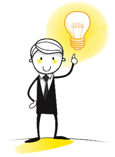 cartoon man with idea bulb how to create an ecommerce site