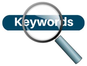 keywords image for ecommerce blogging