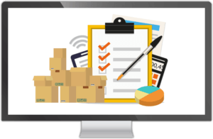 facts about inventory management animated checklist, boxes, and records