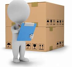 facts about inventory management cartoon figure with checklist and packaging box