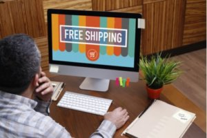 free shipping on computer screen that can help plan a shipping strategy