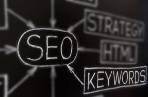 chalkboard with SEO keywords to sell