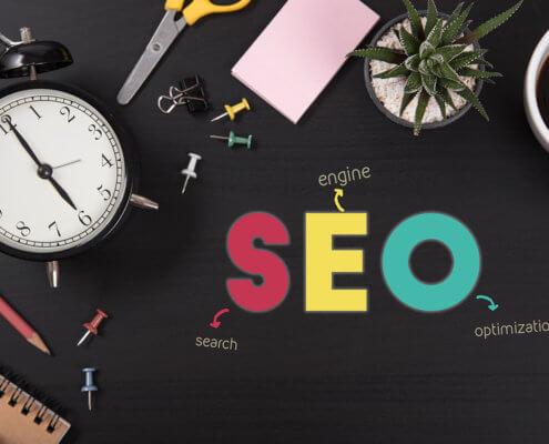 desktop using SEO keywords to sell