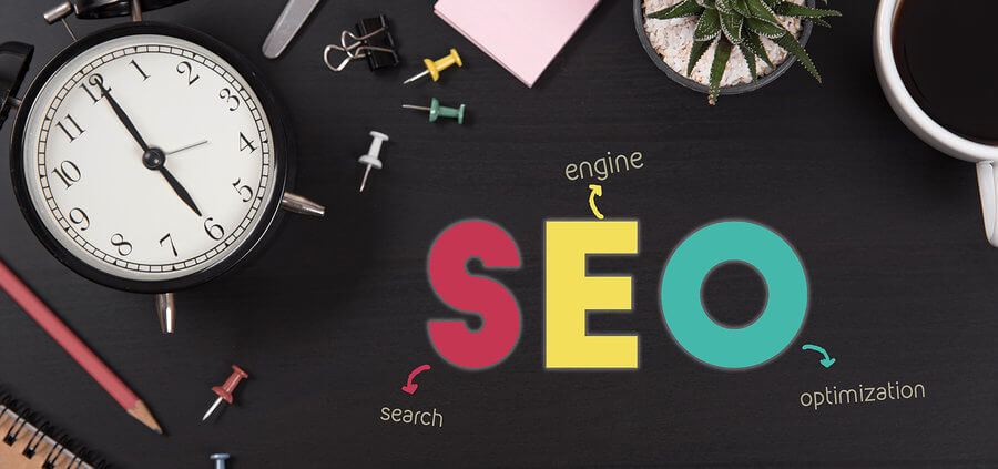 desktop using SEO keywords to sell