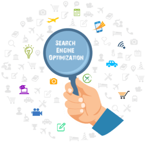 ecommerce SEO picture with magnifying glass