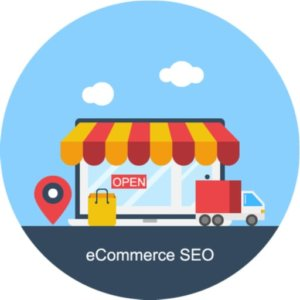 ecommerce SEO cartoon store