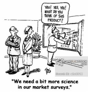 unscientific product market research cartoon