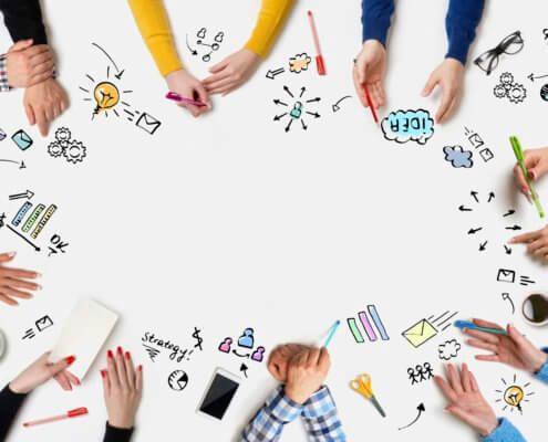 brainstorming about offline marketing for online sellers