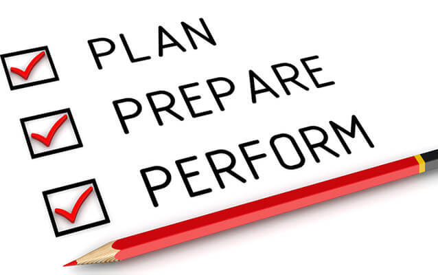 """plan prepare perform"" graphic to help sell online"