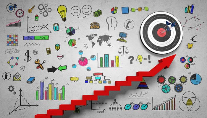 graphic showing steps on how to establish a target market