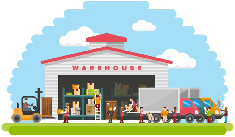 animated warehouse of reliable product suppliers